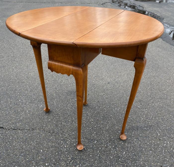 Eldred Wheeler tiger maple breakfast table