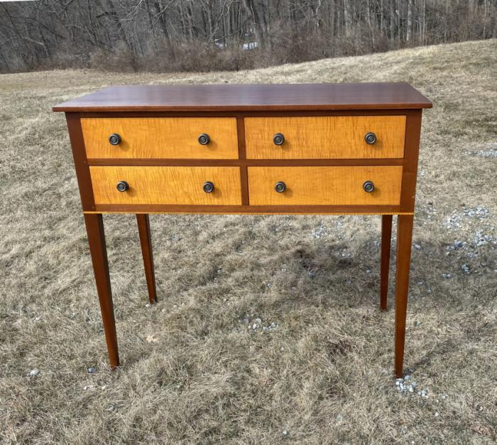 Eldred Wheeler sideboard in tiger maple and cherry