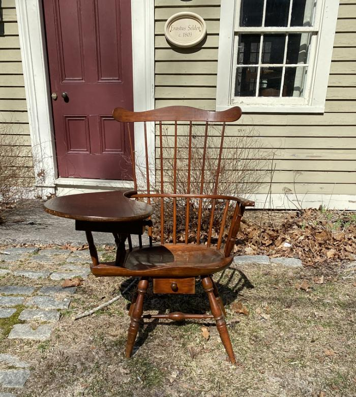 F E Banning writing arm Windsor chair Hadlyme CT