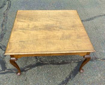 Image of Handmade coffee table in tiger maple