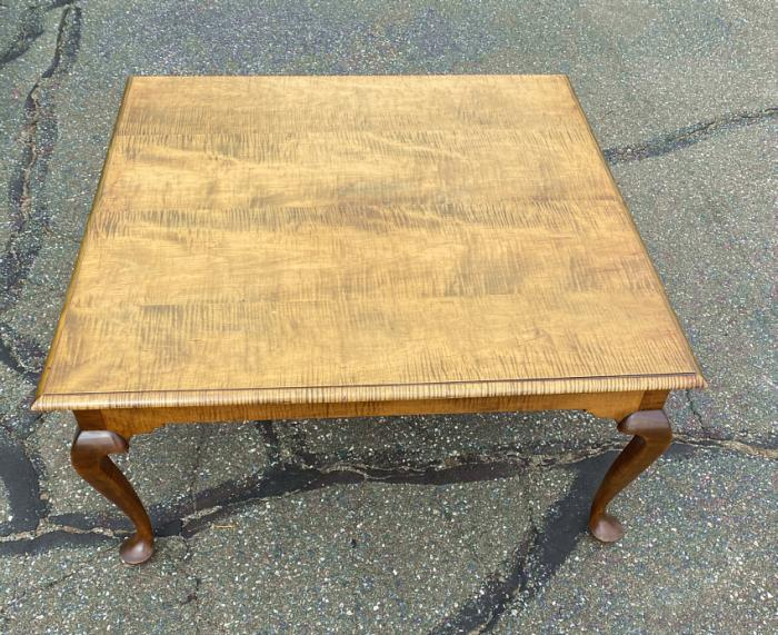 Handmade coffee table in tiger maple