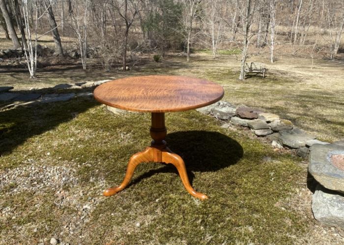 Eldred Wheeler tiger maple breakfast table