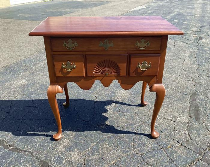 Eldred Wheeler Queen Anne cherry lowboy
