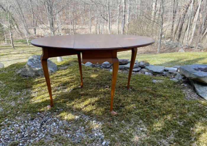Eldred Wheeler drop leaf maple dining table
