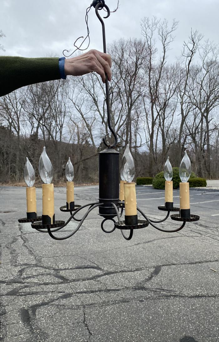 Richard D Scofield Historic Lighting tin chandelier