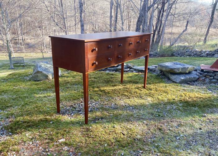Eldred Wheeler cherry six drawer sideboard