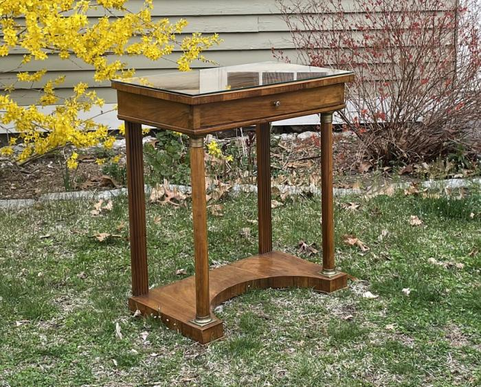 Antique French Empire walnut  pier table