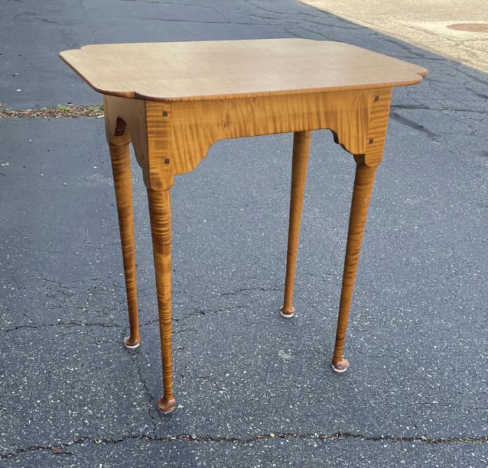 Vintage Eisenmann handcrafted tiger maple stand