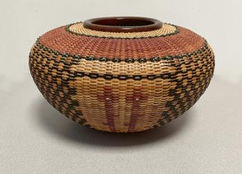 Image of Native American Corn Devas basket by Joan Brink 2001