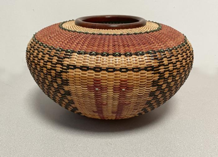 Native American Corn Devas basket by Joan Brink 2001