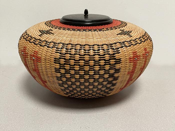Native American Corn Circle basket by Joan Brink 2002