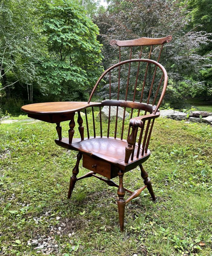 D R Dimes Windsor writing arm chair