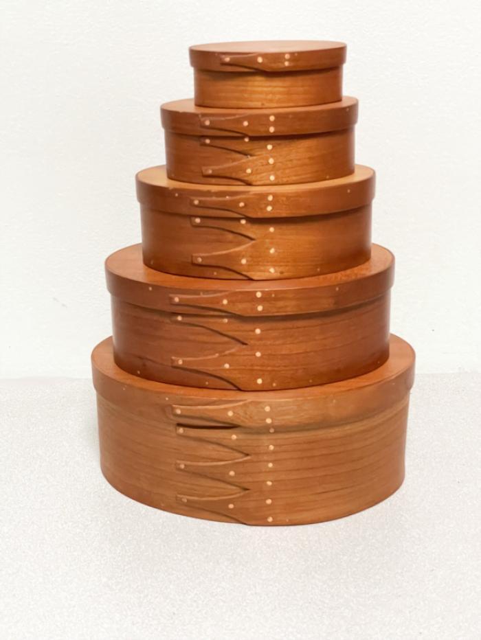Schmitt stacking Shaker style cherry boxes