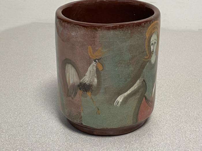 Polia Pillin folk art ceramic cup