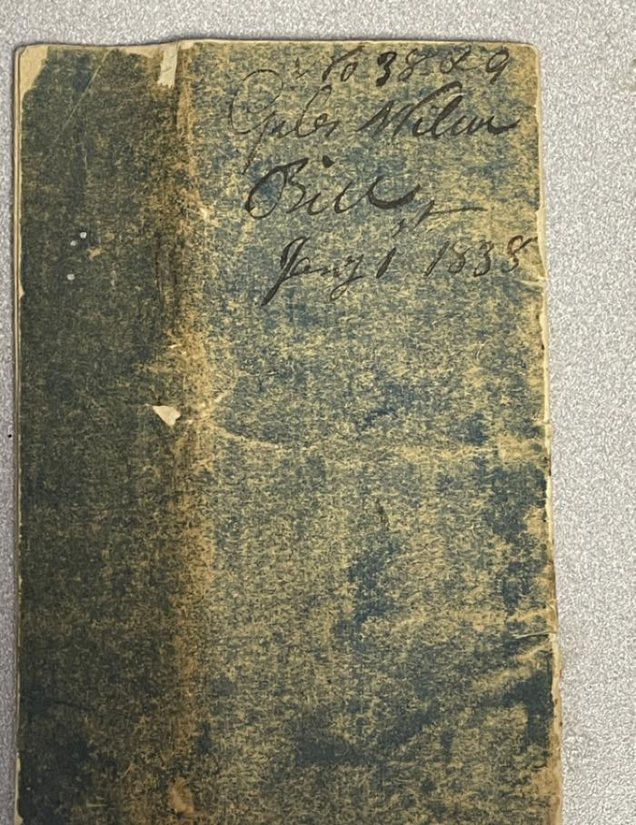 Highway rate bill day book 1836