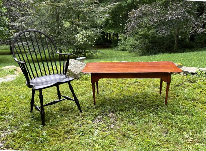 Eldred Wheeler tiger maple coffee table