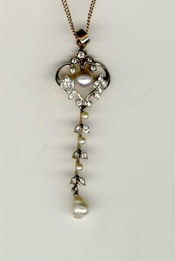 Price my item value of antique jewelry diamond gold pearl for Antique jewelry worth money
