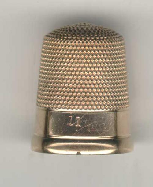 Antique Victorian sewing 14k gold thimble