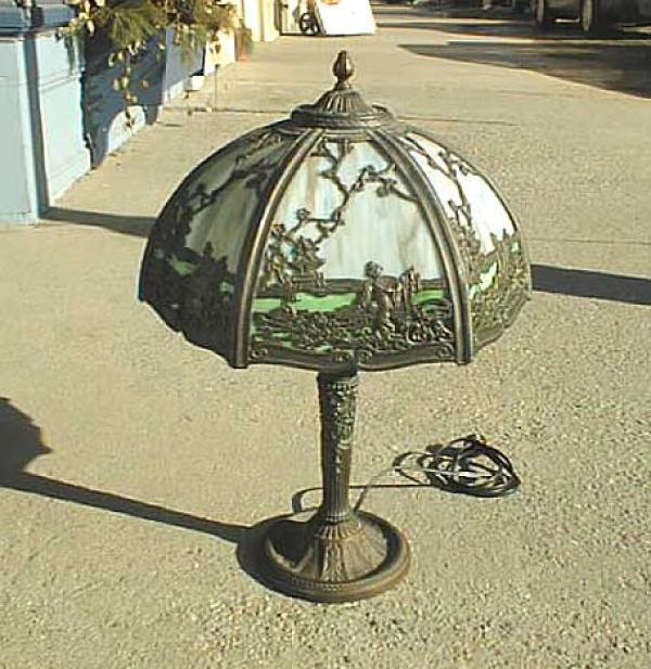 price my item value of antique victorian slag glass lamp. Black Bedroom Furniture Sets. Home Design Ideas