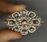 Napolean lll French brooch rose diamonds