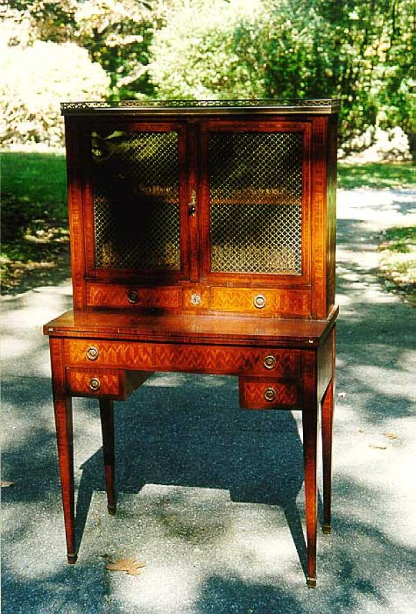 Antique French ladys drop front secretary
