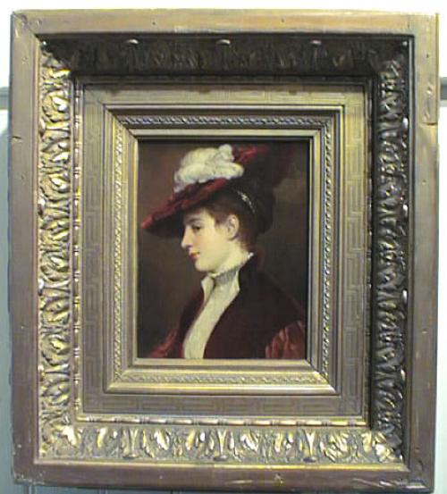 Antique Oils E. Eduard Niczky Portrait painting