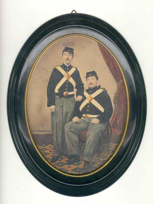 Civil War Photograph of Two Soldiers