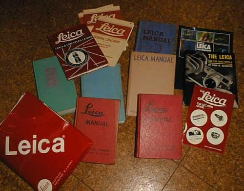 Leica camera manuals books lenses