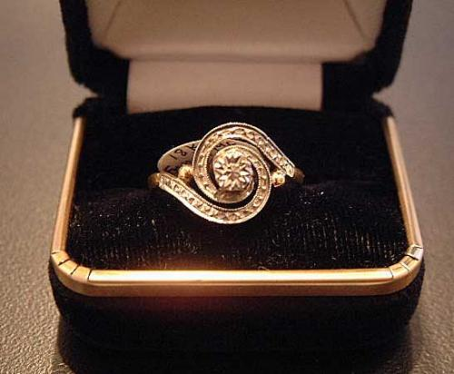 Antique late19th century gold ring