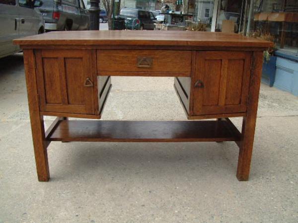 price my item value of antique furniture mission oak partners desk