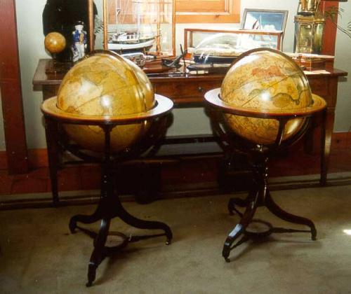 Period Antique English Georgian world globes
