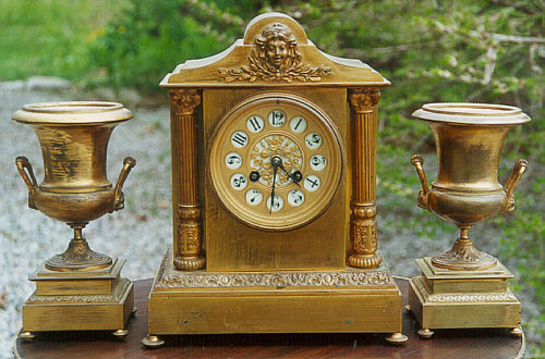 Antique Second Empire French bronze clock
