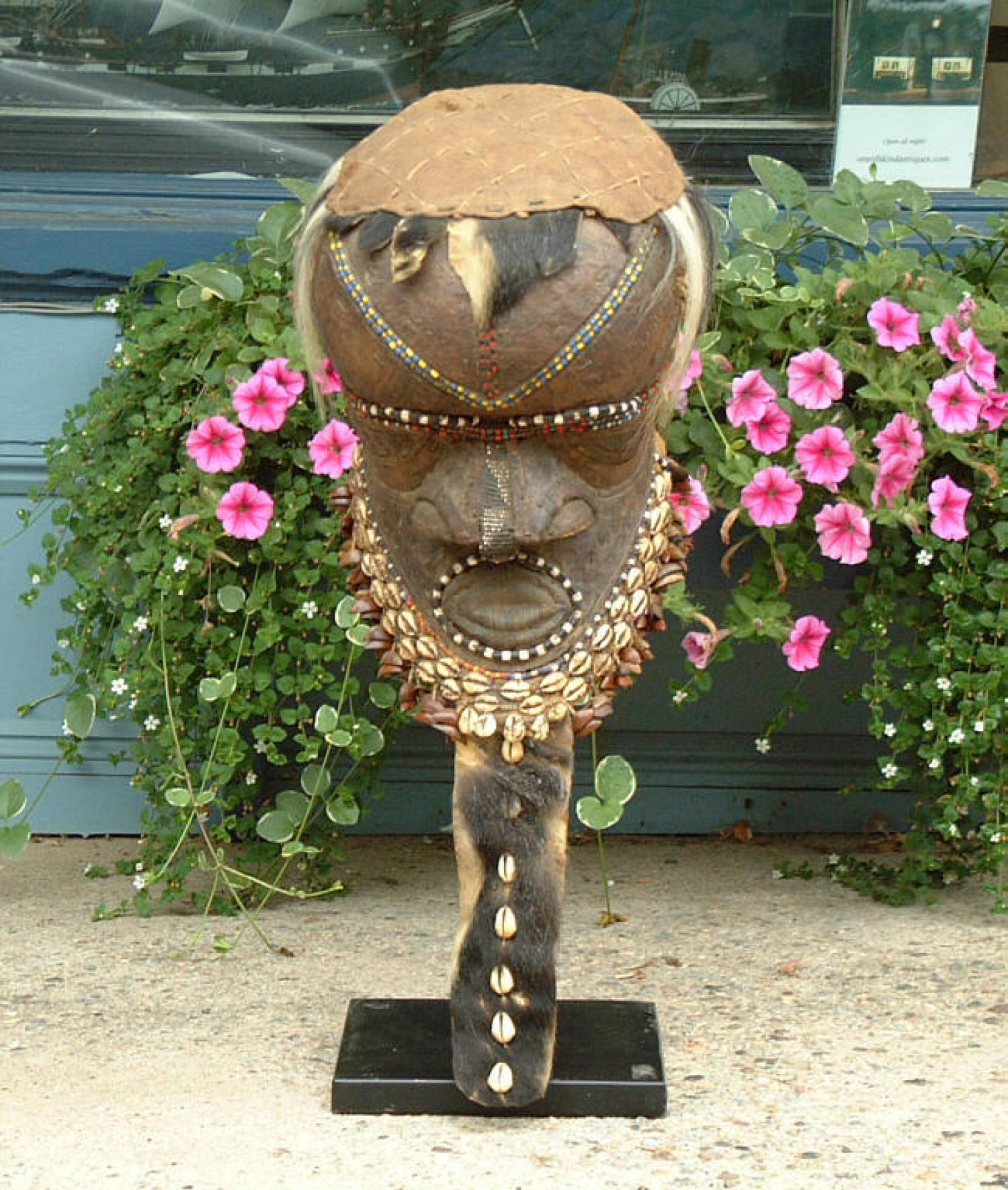African Kuba helmet mask Tribal Art