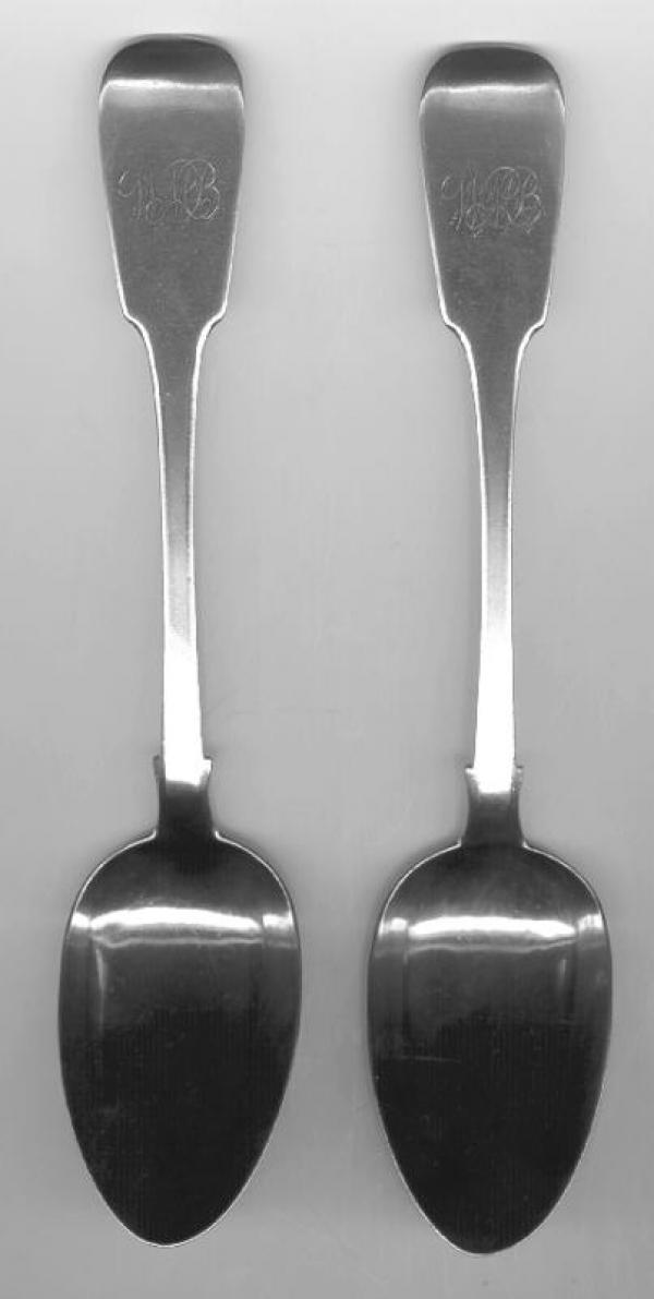 Price My Item Value Of Pair Of Antique Coin Silver Spoons