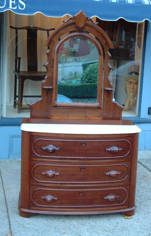Price My Item Value Of Antique Walnut Victorian Dresser With Attached Mirror