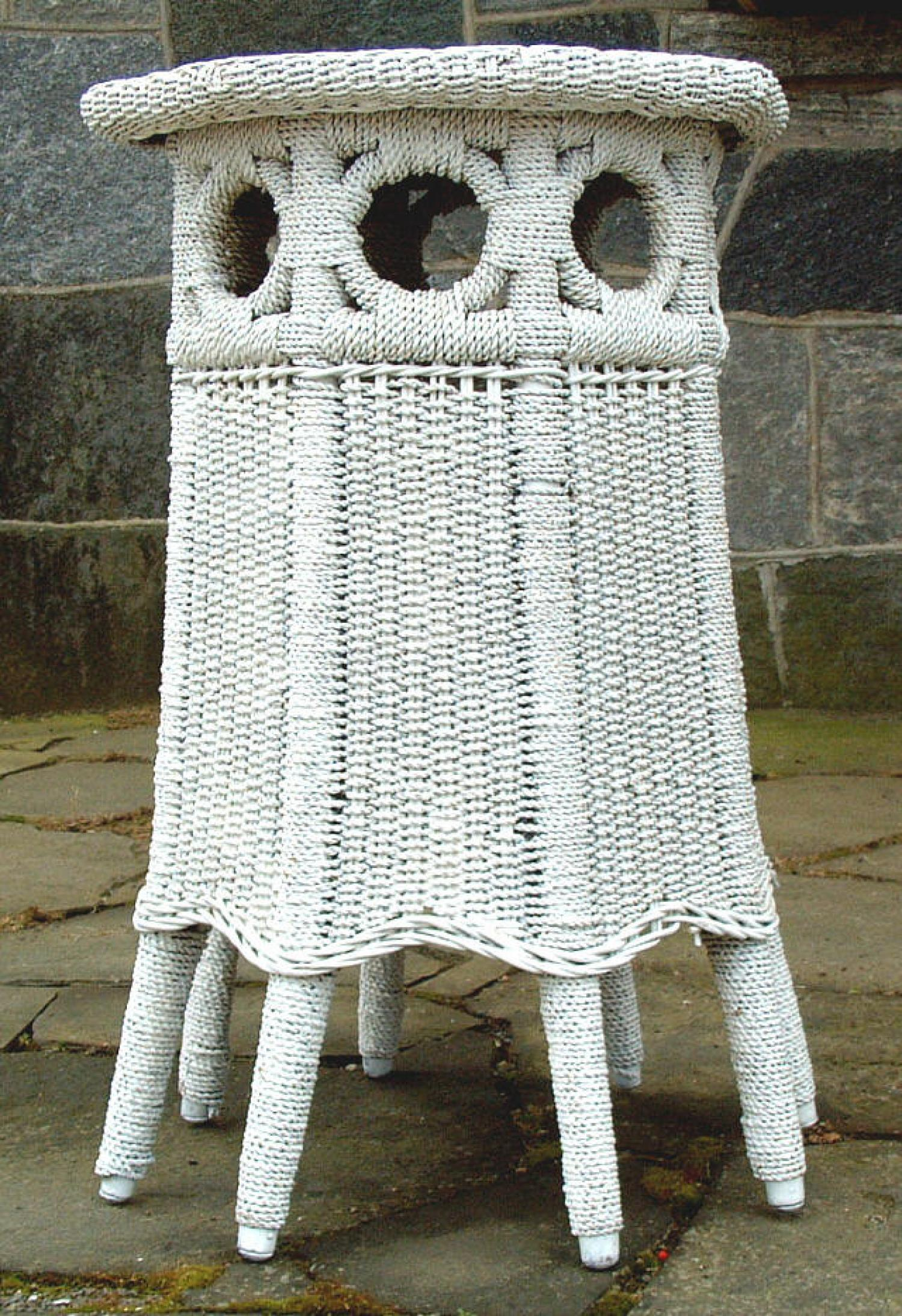 19th Century Antique Wicker Table furniture
