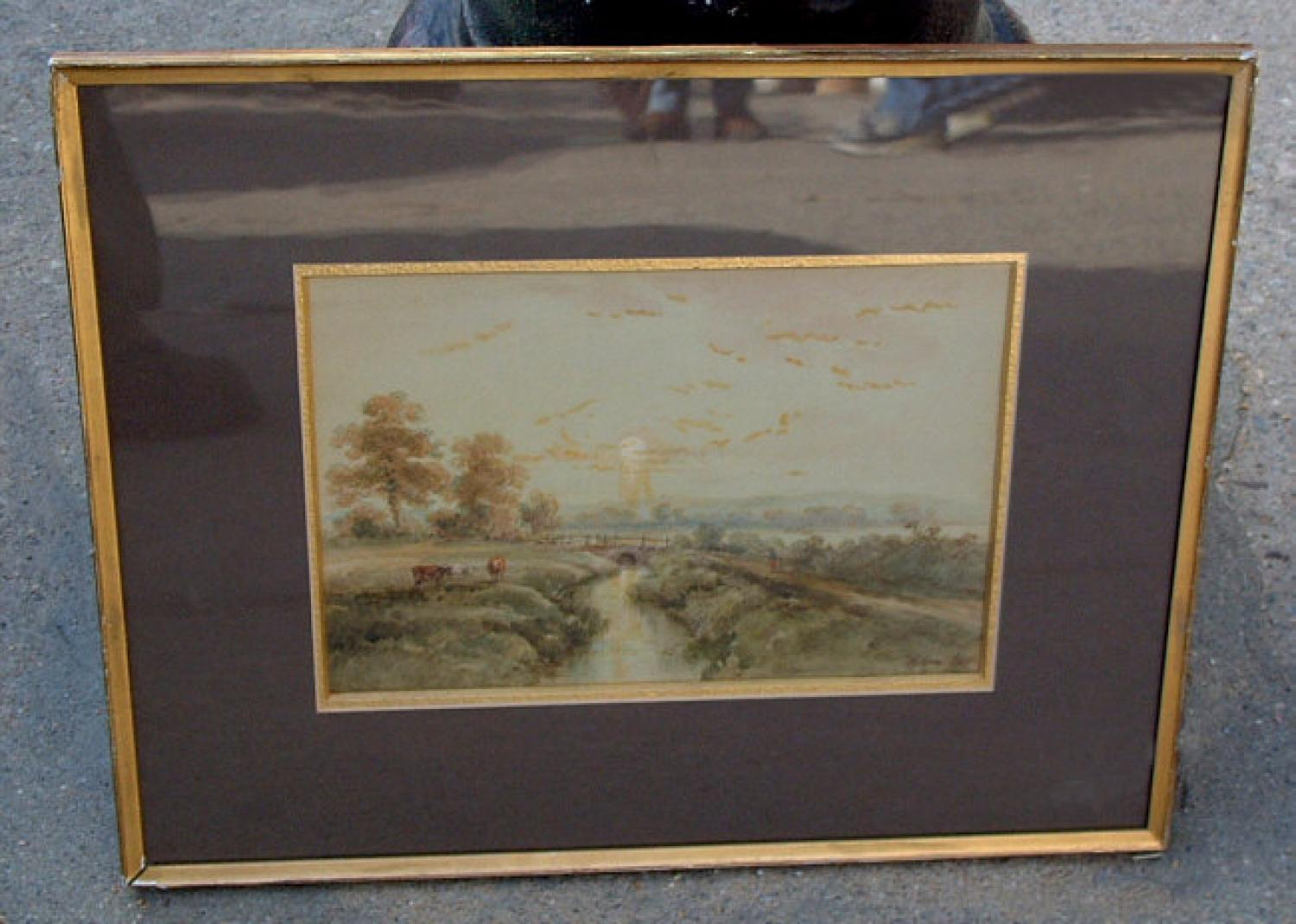 English watercolor landscape by Henry Simpson
