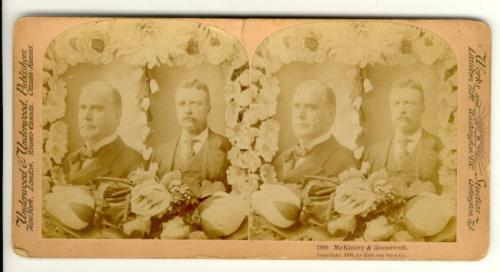 Stereoview photograph McKinley and Roosevelt