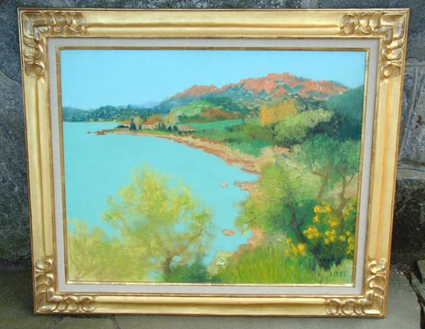 Price my item value of oil painting by french artist for Oil paint price