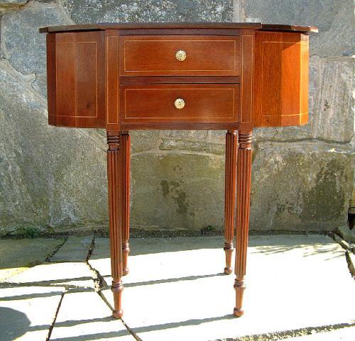 American Federal Style Centennial Martha Washington Solid Mahogany Sewing Stand