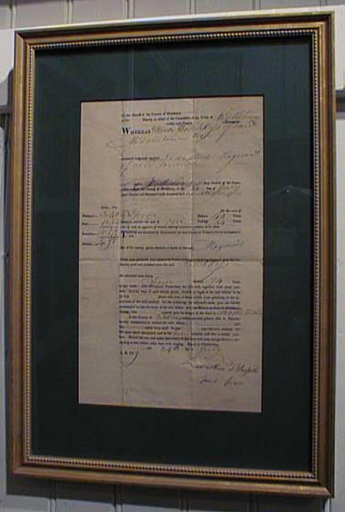 Antique Legal Document 1819 Connecticut Writ