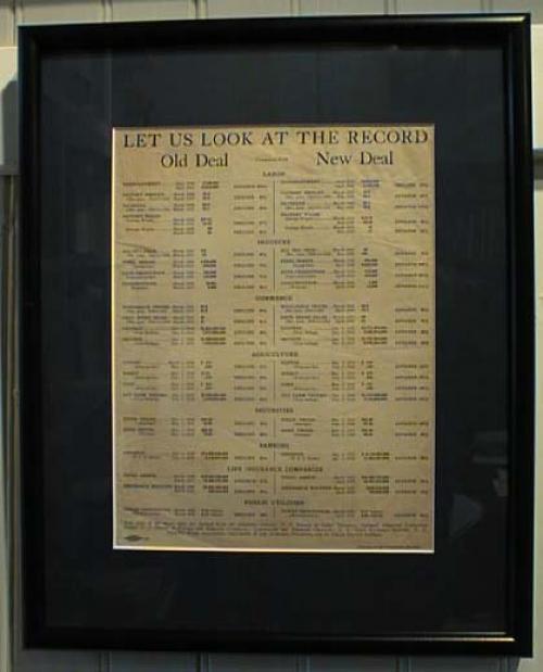 Antique 1936 Roosevelt Campaign Flier