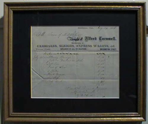 Antique Document 1874 Receipt for sleigh