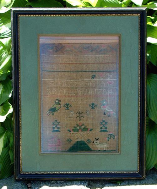 Eunice Smith Antique Textile Sampler December 14th 1784