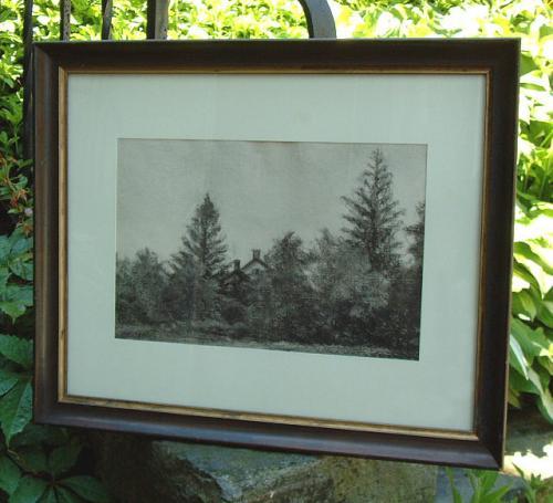 Charcoal Landscape by Jennie Burr