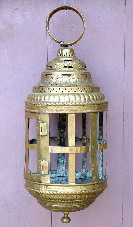 Antique Dutch Brass Lantern circa 1800