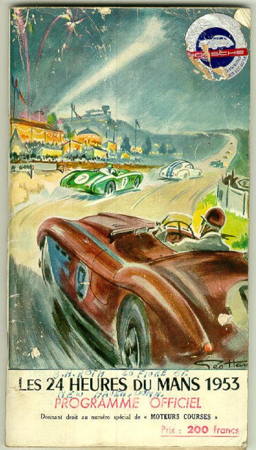 Grand Prix car race program from 1953