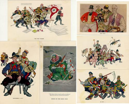 Arthur Szyk Caricatures Set Number 6 for Esquire 1942