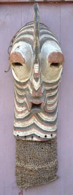 African Rooster Head Songye Male Kifwebe Mask circa 1960