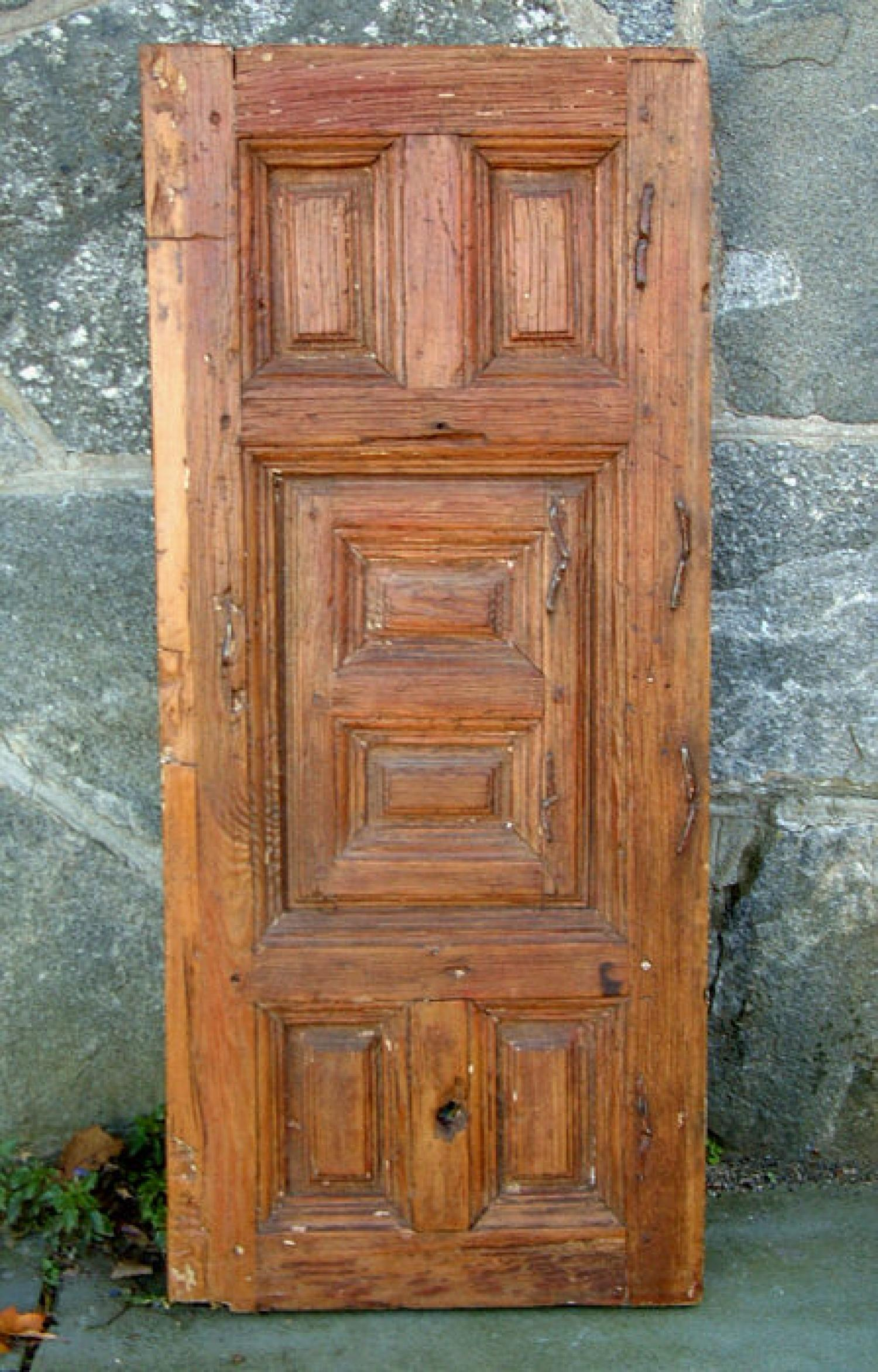 Antique 16th to mid 17th Century Wood confessional Door